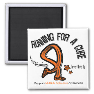 Running For A Cure Multiple Sclerosis 2 Inch Square Magnet