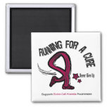 Running For A Cure Sickle Cell Anemia Refrigerator Magnet