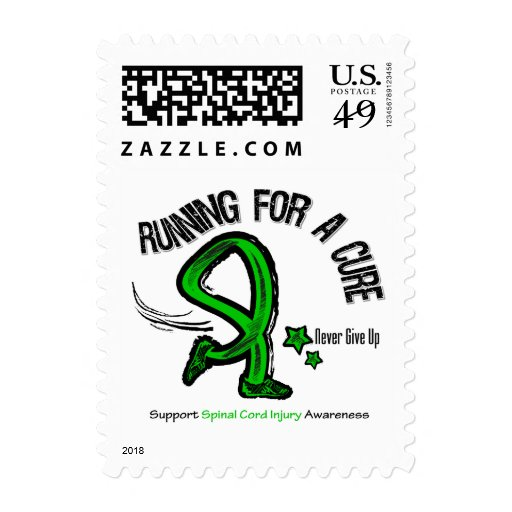 Running For A Cure Spinal Cord Injury Stamp