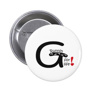 Running for Life Pinback Button