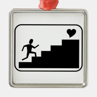 Running for Love Metal Ornament