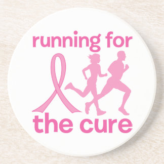 Running For The Cure Beverage Coasters