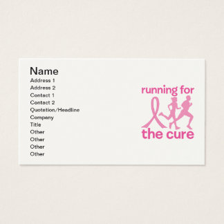 Running For The Cure Business Card