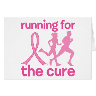 Running For The Cure Greeting Cards