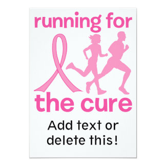 Running For The Cure 5x7 Paper Invitation Card
