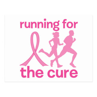 Running For The Cure Postcard