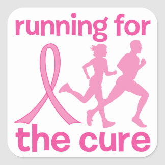 Running For The Cure Square Sticker
