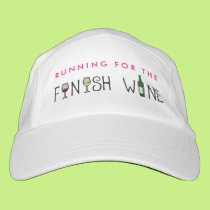 Running for the Finish Wine Headsweats Hat