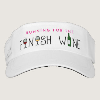 Running for the Finish Wine Visor