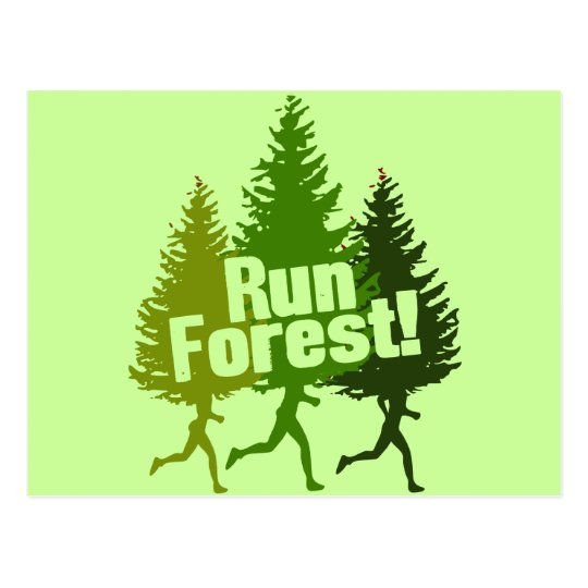 Running Forest Postcard