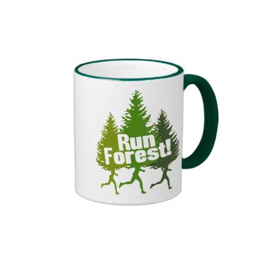 Running Forest Ringer Coffee Mug