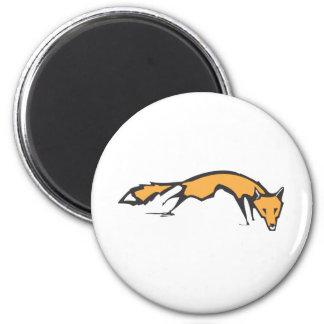 Running Fox 2 Inch Round Magnet