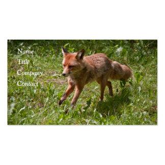 Running fox business card
