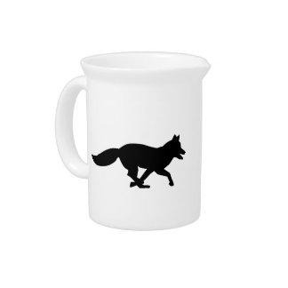 Running fox beverage pitchers