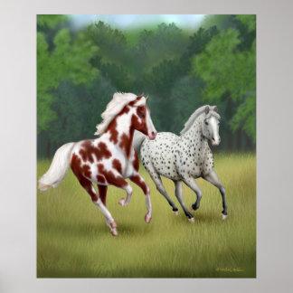 Running Free Horses Print