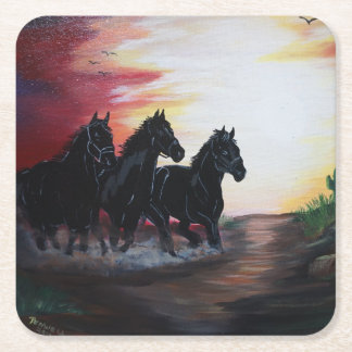 Running free square paper coaster