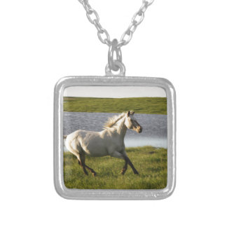 Running Free Square Pendant Necklace