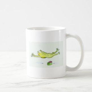 running frog classic white coffee mug