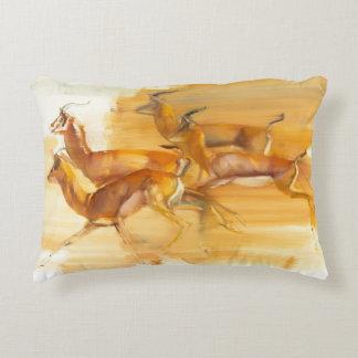 Running Gazelles 2010 Decorative Pillow