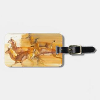 Running Gazelles 2010 Luggage Tag
