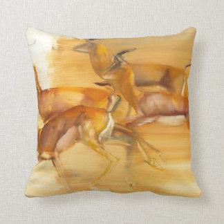 Running Gazelles 2010 Throw Pillow