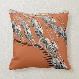 Running Gazelles African Antelopes Boyd Art Pillow