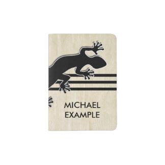 Running Gecko black + your background & ideas Passport Holder