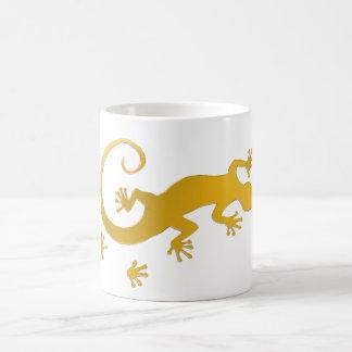 Running Gecko gold | transparent background Coffee Mug