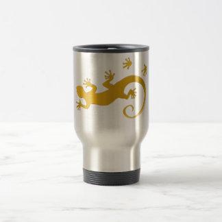 Running Gecko gold Travel Mug