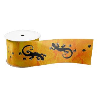 Running Gecko gold + your Ideas Satin Ribbon