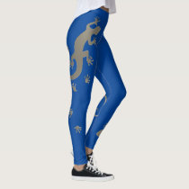Running Gecko silver   your backgr. & ideas Leggings