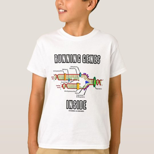 Running Genes Inside (DNA Replication) T-Shirt