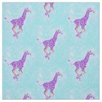 running giraffe -luci darker fabric
