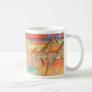 Running Giraffes Mug