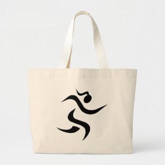 running Girl Jumbo Tote Bag