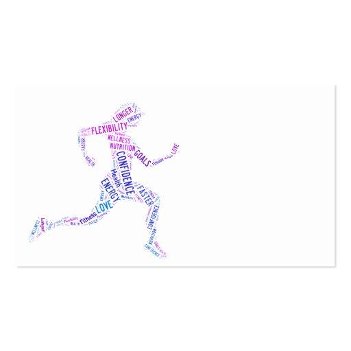 Running girl business card template