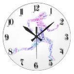 Running girl clock