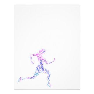 Running girl flyer