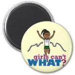 Running Girl in Green Fridge Magnets