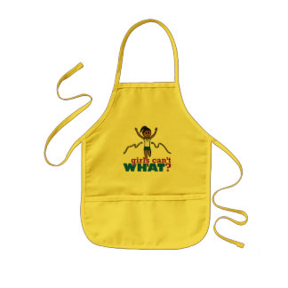 Running Girl in Green Kids' Apron