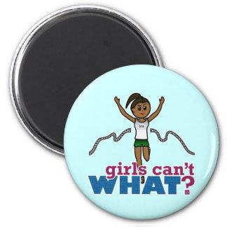 Running Girl in Green Magnet