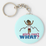 Running Girl in Red Key Chains