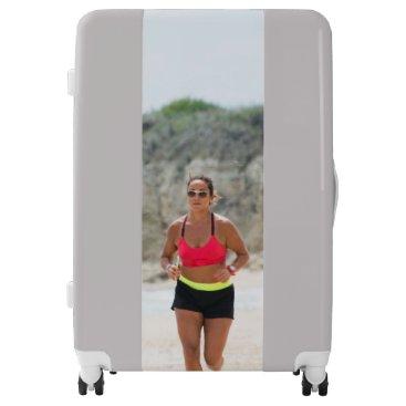 Beach Themed Running girl luggage
