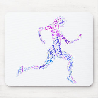 Running girl mouse pad