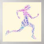 Running girl print