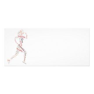 Running girl rack card