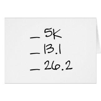 Running Goal Checklist Horizontal Card