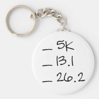 Running Goal Checklist Keychain
