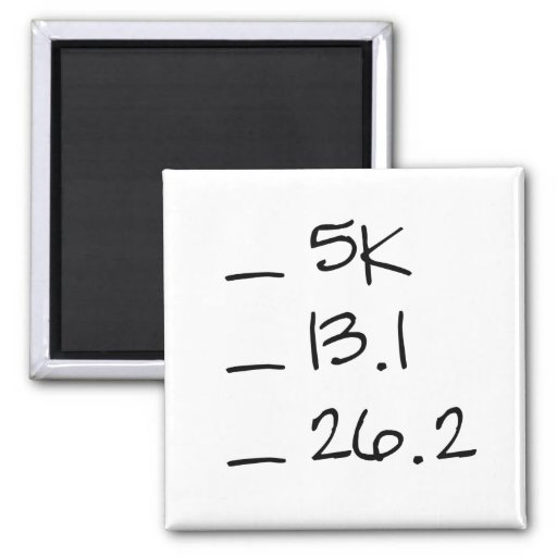 Running Goal Checklist Magnet