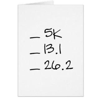 Running Goal Checklist Vertical Card